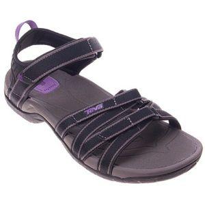 Teva Black Tirra Sandal Sz 6